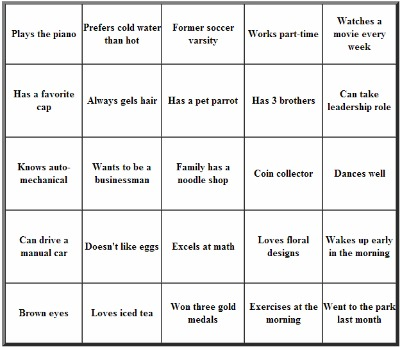 Use icebreakers to crack the negative atmosphere for Ice breaker bingo template