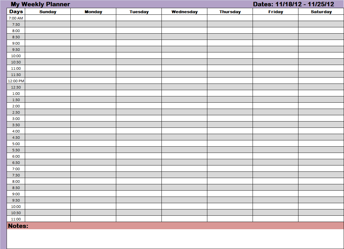 Here's one of the weekly planners you can use for getting things ...